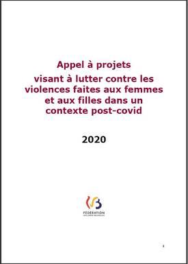 Appel à projets 2020 « visant à lutter contre les violences faites aux femmes et aux filles en contexte post-covid »