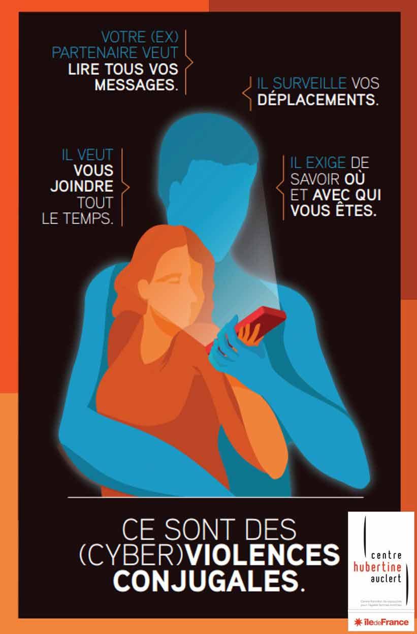 Kit d'action - Cyberviolences conjugales : repérer, accompagner, orienter les victimes - Centre Hubertine Auclert (France, 2020).
