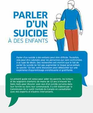 """Guide """"Parler aux enfants d'un suicide"""", Commission de la santé mentale du Canada (2021)."""