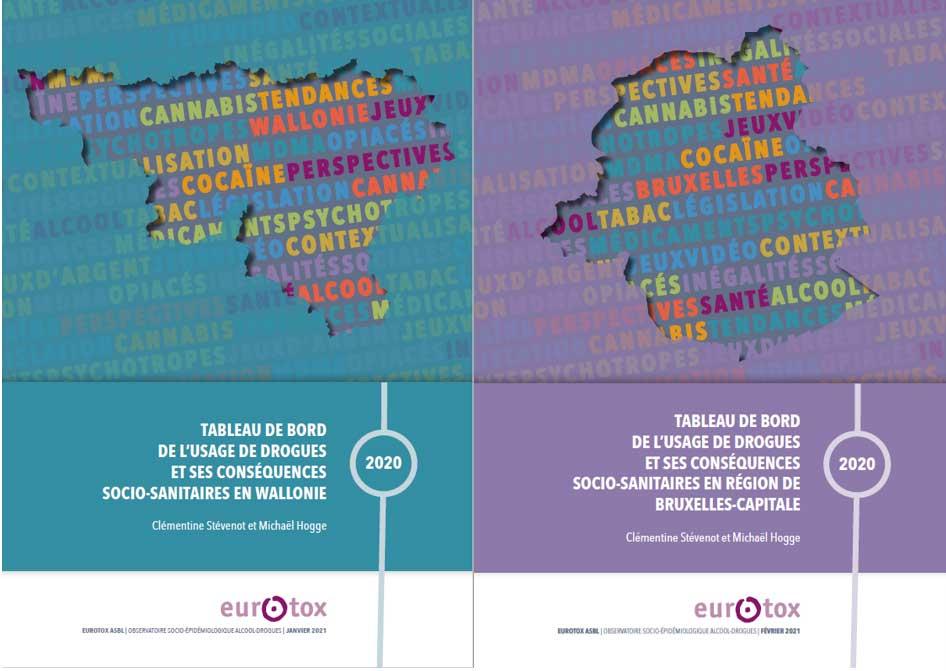 L'Observatoire socio-épidémiologique alcool-drogues en Wallonie et à Bruxelles (Eurotox) publie les Tableaux de bord 2020 de l'usage de drogues et ses conséquences socio-sanitaires.